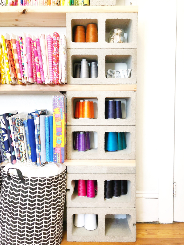 sewing room ideas - thread organizer
