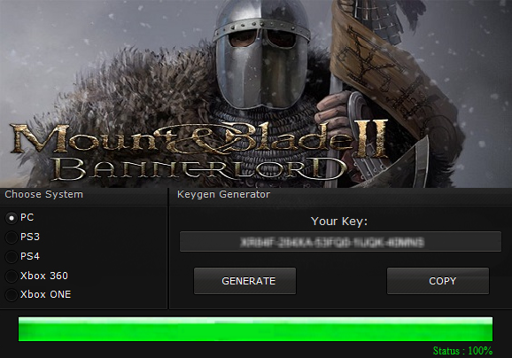 mount and blade cd key