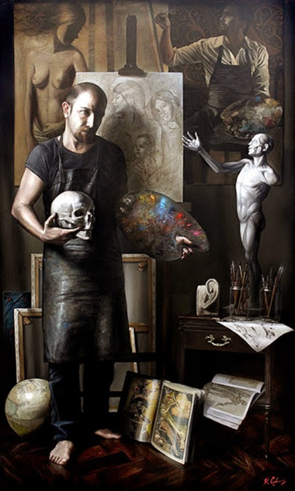 Ricardo Celma, Self Portrait, Portraits of Painters, Fine arts, Painter Ricardo Celma
