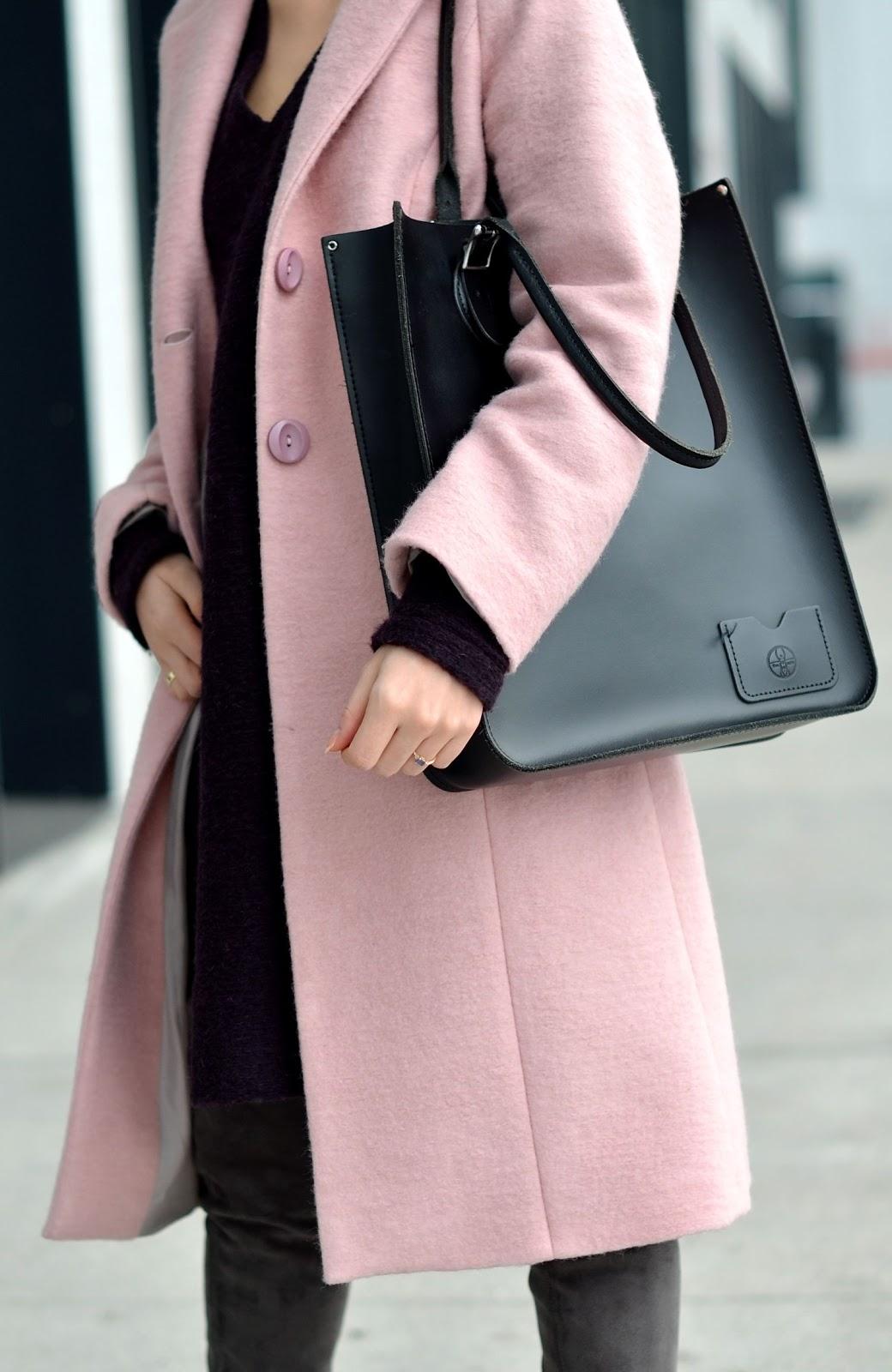 blog modowy | welniany plaszcz | rozowy plaszcz z czym nosic | sens zycia jak znalezc