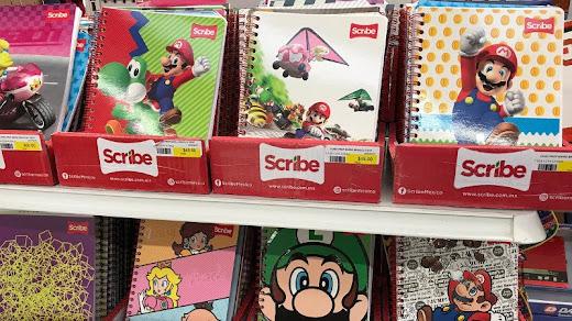 Scribe lanza nueva serie de libretas de Videojuegos con Mario, Luigi, peach y más silenciosamente