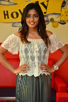 Eesha in a cute deep neck top and Skirt at at Big FM 091.JPG