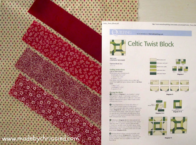 Celtic Twist Block @www.madebyChrissieD.com