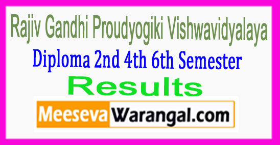 RGPV Rajiv Gandhi Proudyogiki Vishwavidyalaya Diploma 2nd 4th 6th Semester Result May June 2017