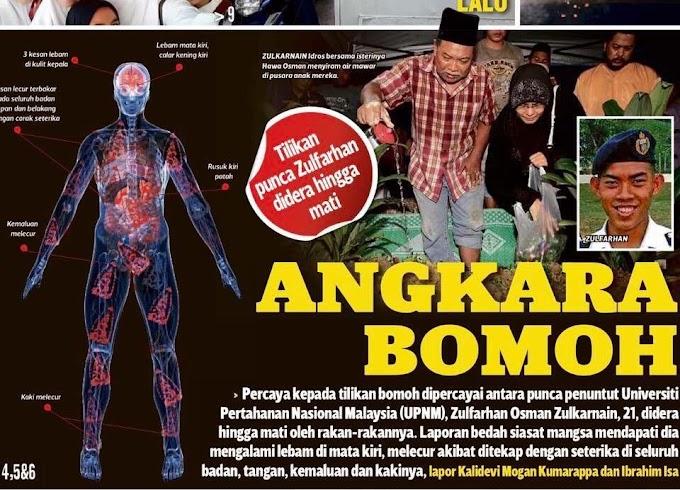 Percaya cakap bomoh Pegawai kadet Zulfarhan Osman mati didera dituduh mencuri laptop