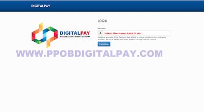 Cara Mudah Login Web Transaksi PPOB Digital Pay