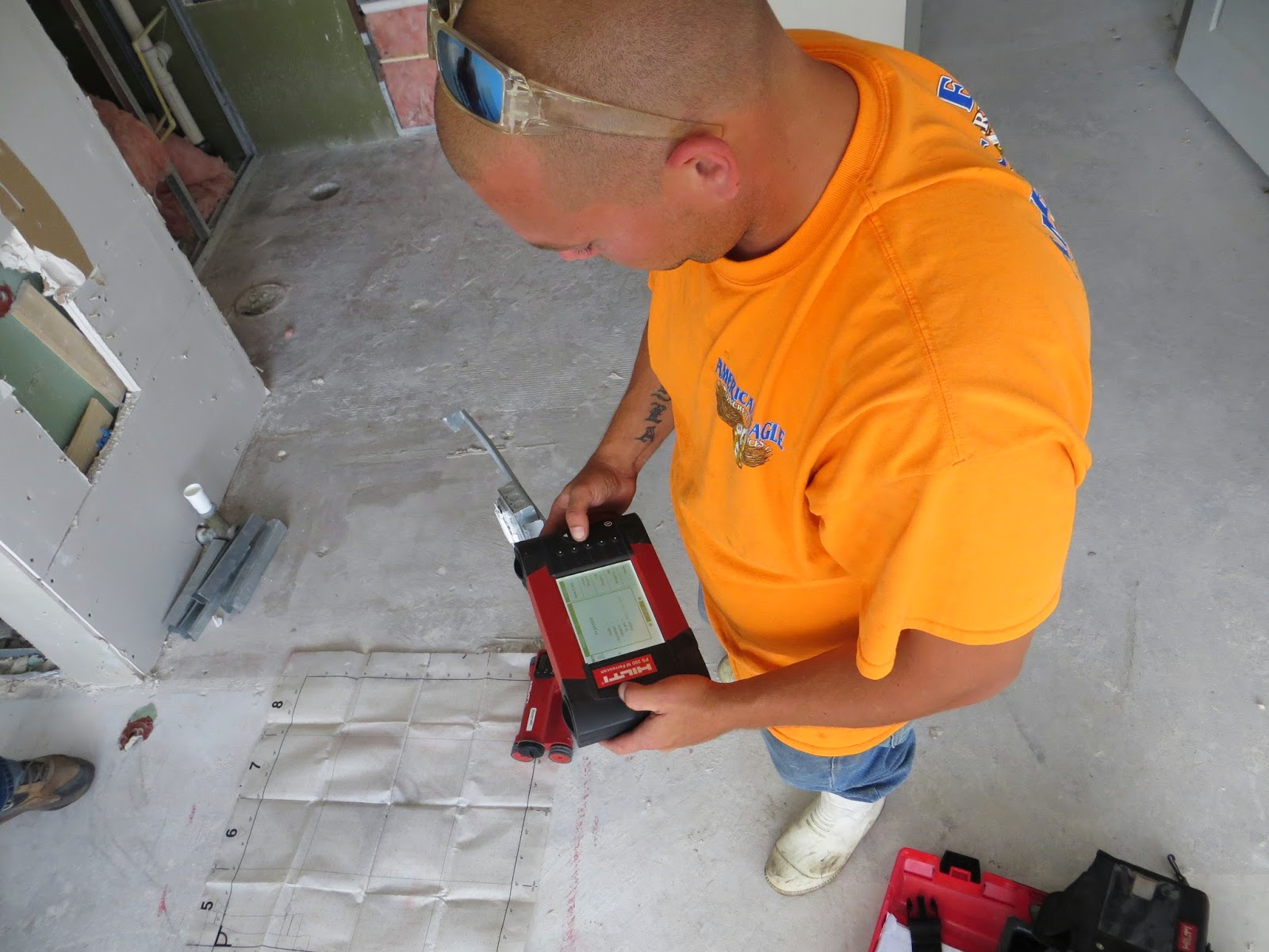 Concrete slab scanning in Orlando by American Eagle Concrete Services