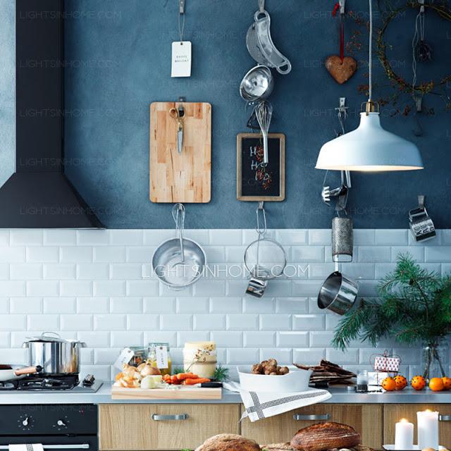 Inspirações de lustres pra iluminar sua cozinha