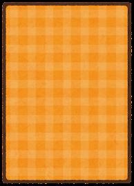 トレーディングカードのテンプレート(裏・オレンジ)