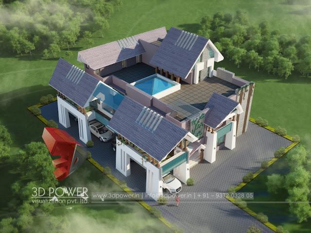 D Animation D Rendering D Walkthrough D Interior Cut - Simple bungalow house design 3d