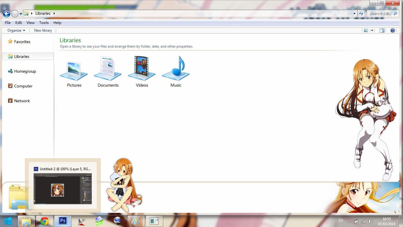 [Theme Win 7] Yuuki Asuna - Sword Art Online By Bashkara Image 4 - Suck-Style