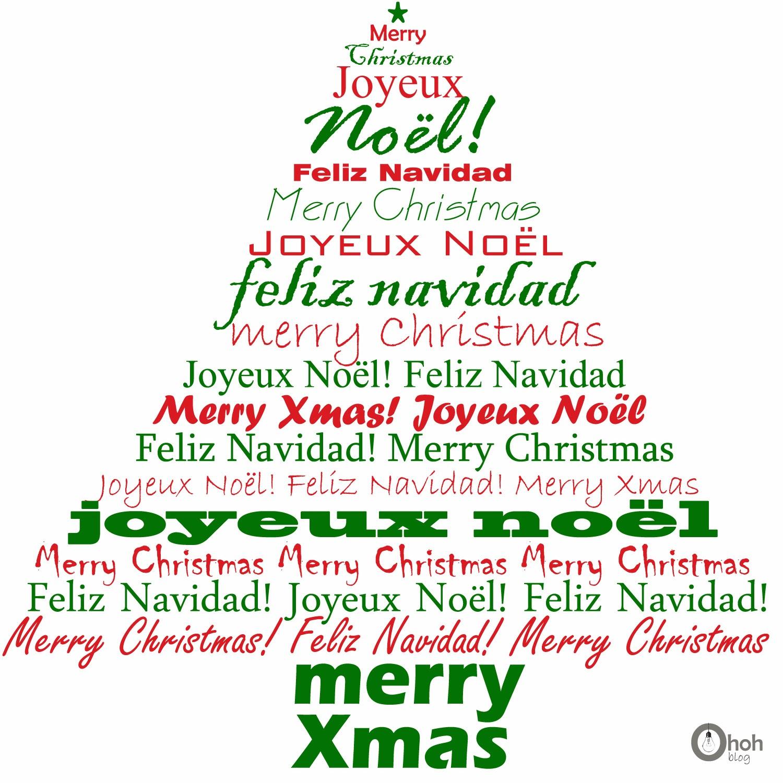 Feliz Navidad Joyeux Noel 2019.Xmas Ohoh Deco