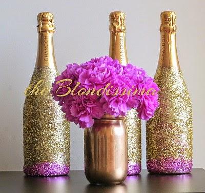 Diy Glitter Champagne Bottles The Blondissima