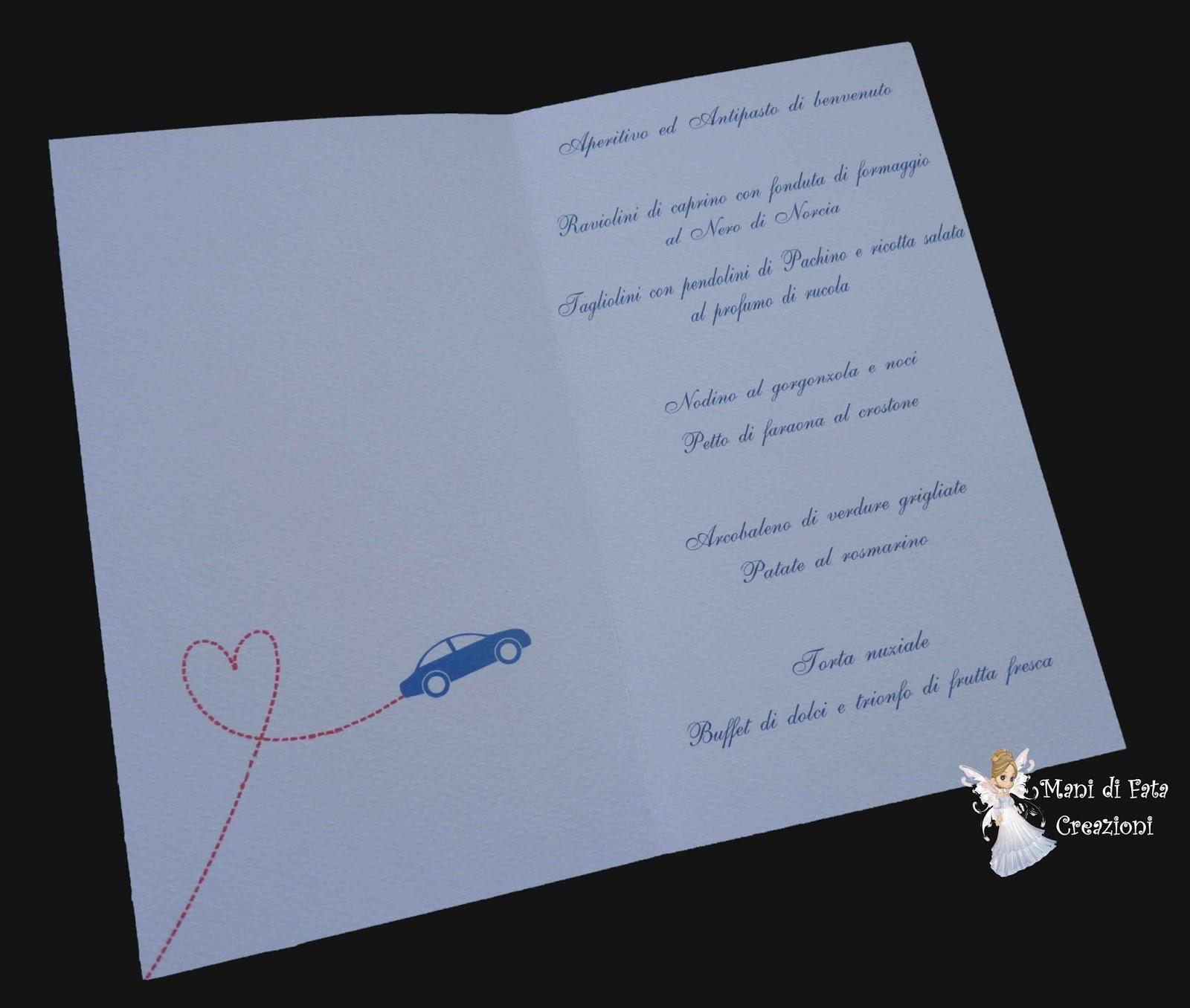Auguri Matrimonio Tema Viaggio : Mani di fata creazioni menù matrimonio tema viaggio