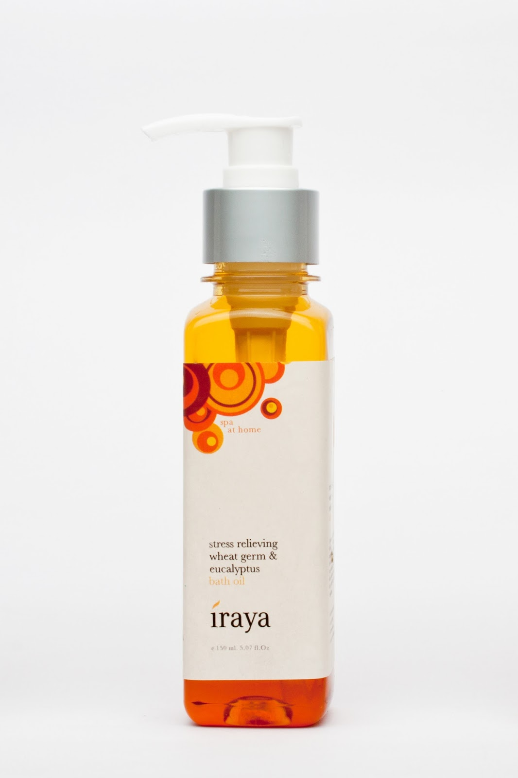 Iraya Stress Relieving Bath Oil - Wheatgerm & Eucalyptus