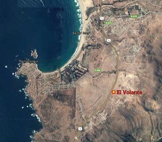 El Volante Pichidangui mapa ubicacion