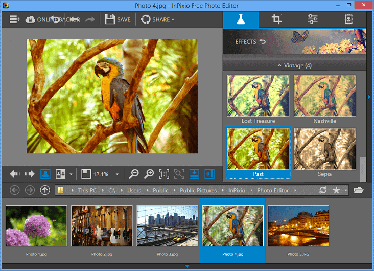 برنامج تعديل الصور InPixio Photo Editor