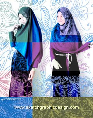 abaya, tunik, blouse, gamis, busana muslim, motif, bordir, kerudung, kebaya, pattern, design, pola motif