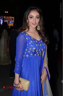 Telugu Actress Tejaswi Madivada Pos in Blue Long Dress at Nanna Nenu Na Boyfriends Audio Launch  0065.JPG