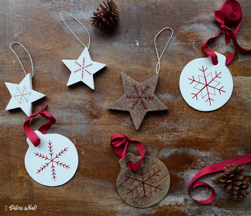 Scandinavian Christmas Star Ornaments DIY