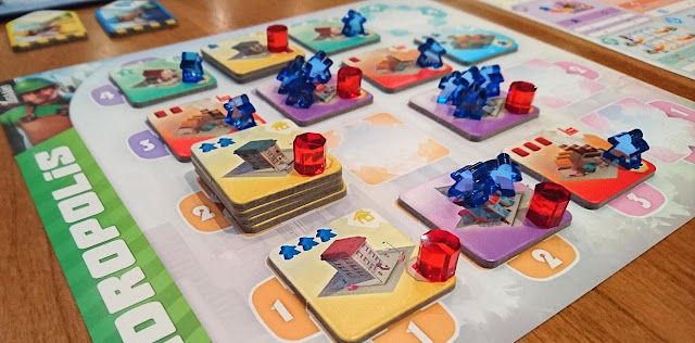 Quadropolis board game from Days of Wonder