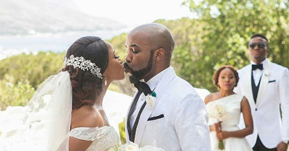 #BAAD2017:See Official photos from Banky and Adesua's white wedding in SA