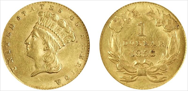 Золотой доллар США – Large Head Type