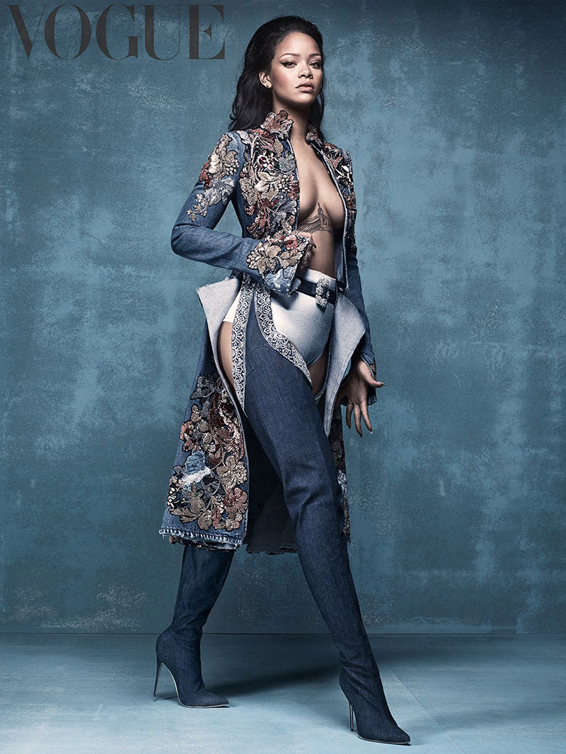 Rihanna talks Manolo Blahnik collaboration with Vogue UK April 2016