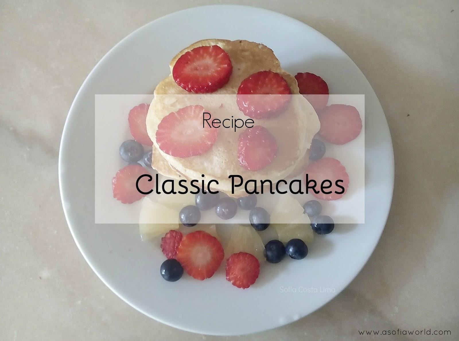 Recipe of classic american pancakes