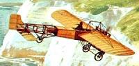 Imagen de Jorge Chávez en su aeroplano a colores