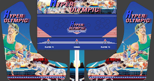 Hyper Olympic Artwork for the ArcadeForge Bartop