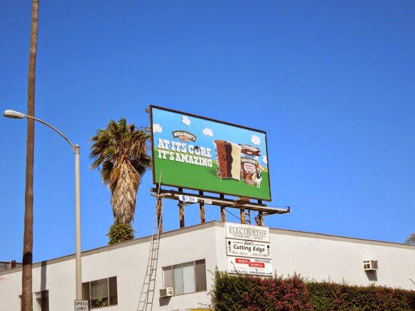 Ben Jerry's Good to core billboard