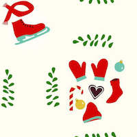 winter holiday pattern paper