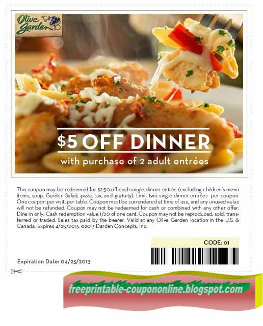 Olive garden take out coupons