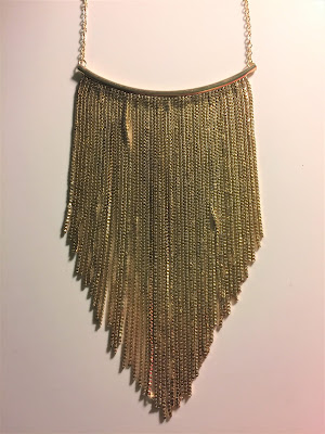 walmart gold fringe necklace