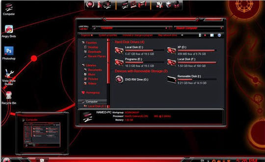 Windows 7 Alienware Blue Edition Full Pack ISO Free Download