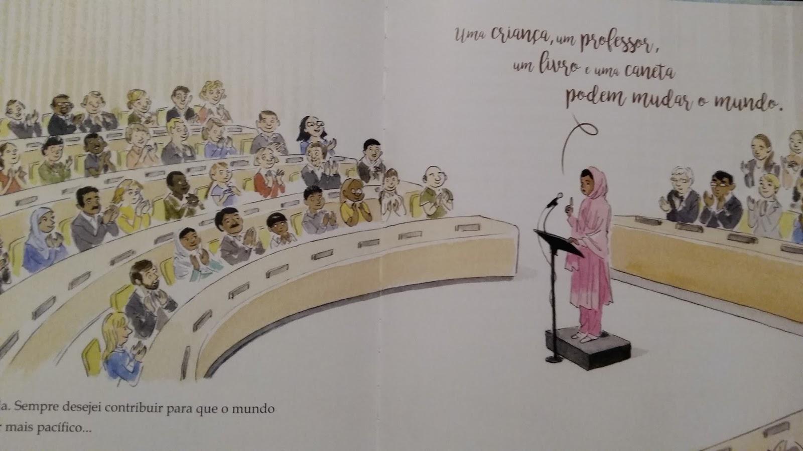 """...viajar pela leitura...: """"O Lápis Mágico de Malala"""" de"""