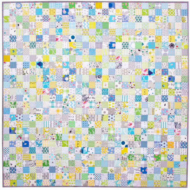 Winter Be Gone - A Checkerboard Quilt | Red Pepper Quilts 2015