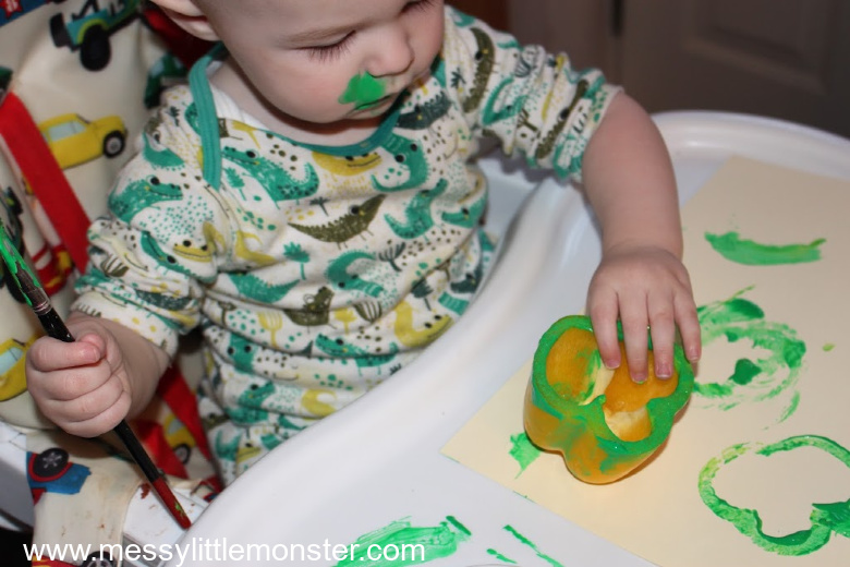 St Patricks Day process art for kids
