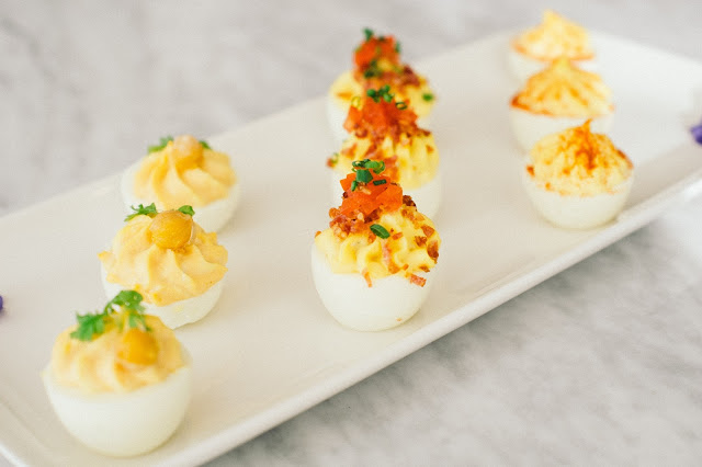 Deviled Eggs from The Candy Apple Cafe' & Cocktails
