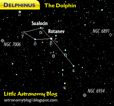 Delphinus constellation map