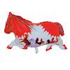 Balon Foil Karakter Kuda Merah