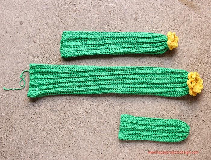 DIY Cactus Amigurumi: cuerpo y brazos