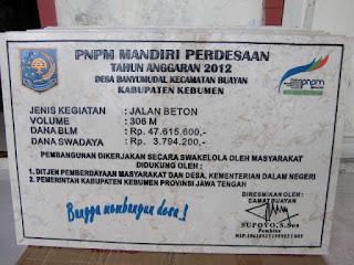 INFO DAN BERITA KEGIATAN PNPM KECAMATAN BUAYAN KEBUMEN JAWATENGAH TAHUN 2012