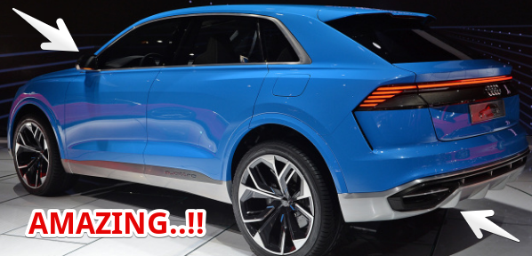 2017 Detroit Auto Show Preview : 2018 Audi Q8 concept personal luxury crossover