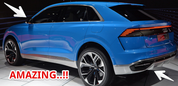 2017 Detroit Auto Show Preview : 2018 Audi Q8 concept personal luxury crossover