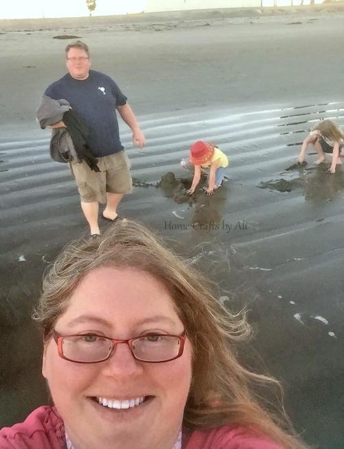 family at cabrillo beach
