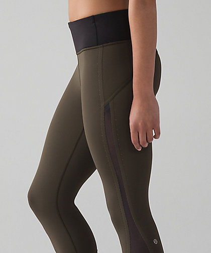 lululemon olive-smooth-stride-crop