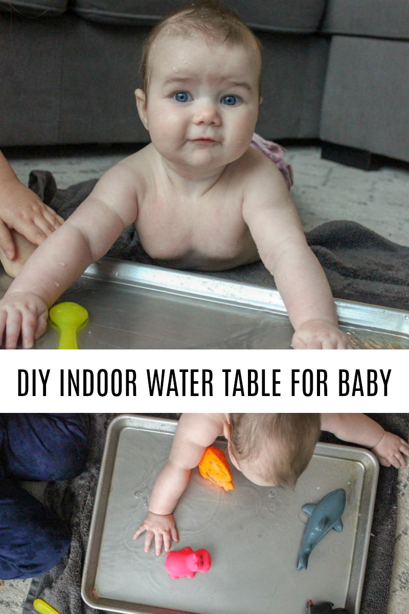 DIY Indoor Water Table for Baby