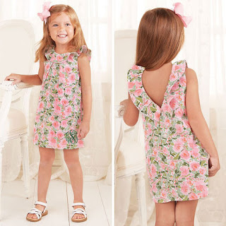 girl's personalized floral dress